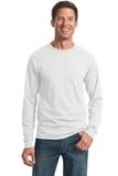 Moisture Management 50/50 Cotton / Poly Long Sleeve T-shirt White Thumbnail