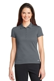 Women's Nike Golf Dri-FIT Solid Icon Pique Modern Fit Polo Dark Grey Thumbnail