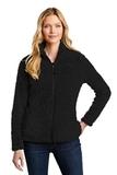 Ladies Cozy Fleece Jacket Black Thumbnail
