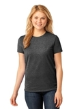 Women's 5.4-oz 100 Cotton T-shirt Dark Heather Grey Thumbnail