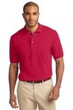 Tall Pique Knit Polo Shirt Red Thumbnail