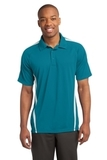 Micro-mesh Colorblock Polo Blue Wake with White Thumbnail