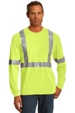 Cornerstone Ansi 107 Class 2 Long Sleeve Safety T-shirt Safety Yellow with Reflective Thumbnail