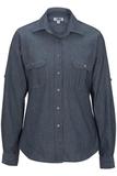 Chambray Roll-up-sleeve Shirt Chambray Blue Thumbnail