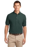 Tall Silk Touch Polo Shirt With Pocket Dark Green Thumbnail