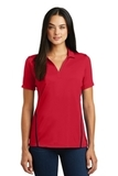 Women's Contrast Tough Polo Deep Red with Black Thumbnail