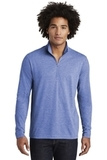 Tri-Blend Wicking 1/4-Zip Pullover True Royal Heather Thumbnail