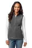 Women's Eddie Bauer Fleece Vest Grey Steel Thumbnail