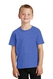 Youth 5.5-oz 100 Cotton T-shirt Heather Royal Thumbnail