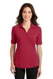 Women's Silk Touch Interlock Performance Polo Rich Red Thumbnail