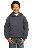 Youth Pullover Hooded Sweatshirt Charcoal Thumbnail