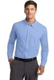 Port Authority Dimension Knit Dress Shirt Dress Shirt Blue Thumbnail