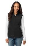 Women's Eddie Bauer Fleece Vest Black Thumbnail