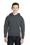 Youth Pullover Hooded Sweatshirt Charcoal Grey Thumbnail