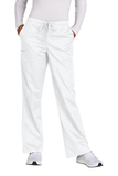 WonderWink Women's Tall WorkFlex Flare Leg Cargo Pant White Thumbnail