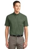 Tall Short Sleeve Easy Care Shirt Clover Green Thumbnail