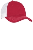 Mesh Back Cap Red with White Thumbnail