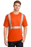 Ansi Compliant Safety T-shirt With Pocket Safety Orange with Reflective Thumbnail