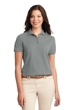 Women's Silk Touch Polo Shirt Cool Grey Thumbnail