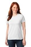 Screenprinted Women's 50/50 Cotton / Poly T-shirt White Thumbnail