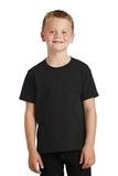 Youth 5.5-oz 100 Cotton T-shirt Jet Black Thumbnail