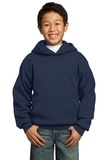 Youth Pullover Hooded Sweatshirt Navy Thumbnail