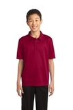 Youth Silk Touch Performance Polo Red Thumbnail