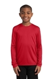 Youth Long Sleeve Competitor Tee True Red Thumbnail