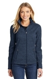 Women's Digi Stripe Fleece Jacket Navy Thumbnail