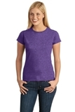 Women's Softstyle Ring Spun Cotton T-shirt Heather Purple Thumbnail
