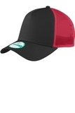 Era Snapback Trucker Cap Black with Scarlet Thumbnail