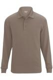 Edwards Unisex Snag Proof Long Sleeve Polo Silver Tan Thumbnail
