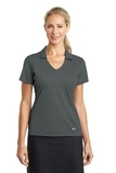 Women's Nike Golf Dri-FIT Vertical Mesh Polo Anthracite Thumbnail
