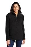 Ladies Cozy 1/4-Zip Fleece Black Thumbnail