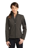 Women's Eddie Bauer Rugged Ripstop Soft Shell Jacket Canteen Grey with Black Thumbnail