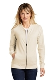 Ladies Lightweight French Terry Bomber Ecru Thumbnail