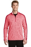 Electric Heather Colorblock 1/4-Zip Pullover Deep Red Electric with Deep Red Thumbnail