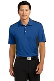Nike Golf Dri-fit Engineered Mesh Polo Gym Blue with Black Thumbnail