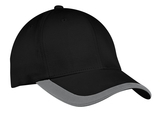 Contrast Stripe Sandwich Bill Cap Black with Graphite Thumbnail