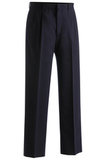 Men's Pleated Front Lightweight Poly / Wool Pants Navy Thumbnail
