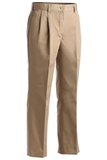 Women's Pleated 100 Cotton Pant Tan Thumbnail
