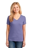 Women's 5.4-oz 100 Cotton V-neck T-shirt Violet Thumbnail