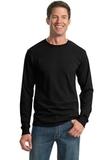 Moisture Management 50/50 Cotton / Poly Long Sleeve T-shirt Black Thumbnail