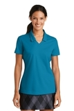 Women's Nike Golf Shirt Dri-FIT Micro Pique Polo Shirt Tidal Blue Thumbnail