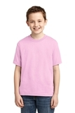 Youth 50/50 Cotton / Poly T-shirt Classic Pink Thumbnail