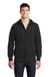 Full-zip Hooded Sweatshirt Black Thumbnail