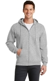 7.8-oz Full-zip Hooded Sweatshirt Ash Thumbnail