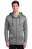 Nike Golf Therma-FIT Full-Zip Fleece Hoodie Dark Grey Heather Thumbnail