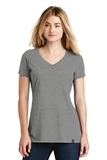 Women's New Era Heritage Blend VNeck Tee Shadow Grey Heather Thumbnail