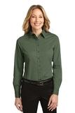 Women's Long Sleeve Easy Care Shirt Clover Green Thumbnail